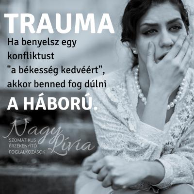 A trauma az idegrendszer túlterhelése